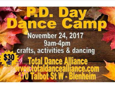 Novemeber PD Day Dance Camp